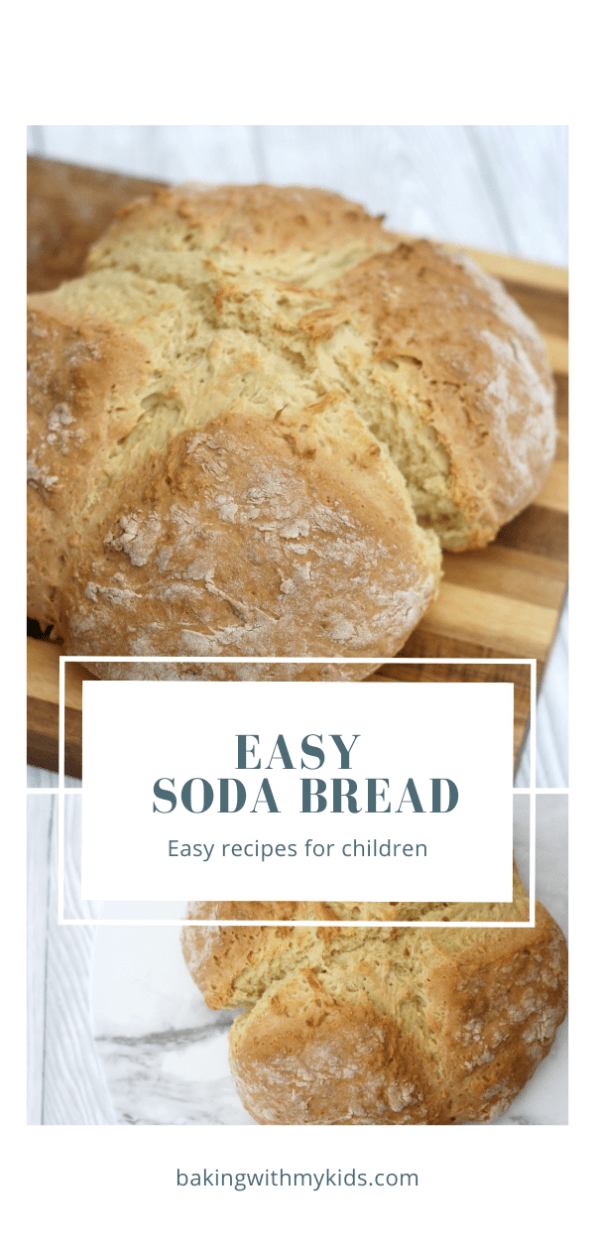 easy soad bread graphic with a text overlay.