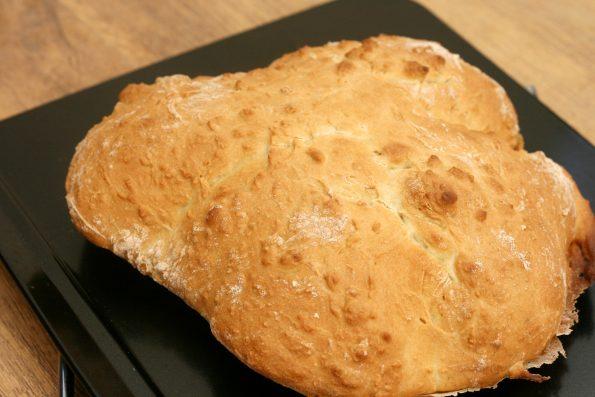 easy soda bread on a baking tray