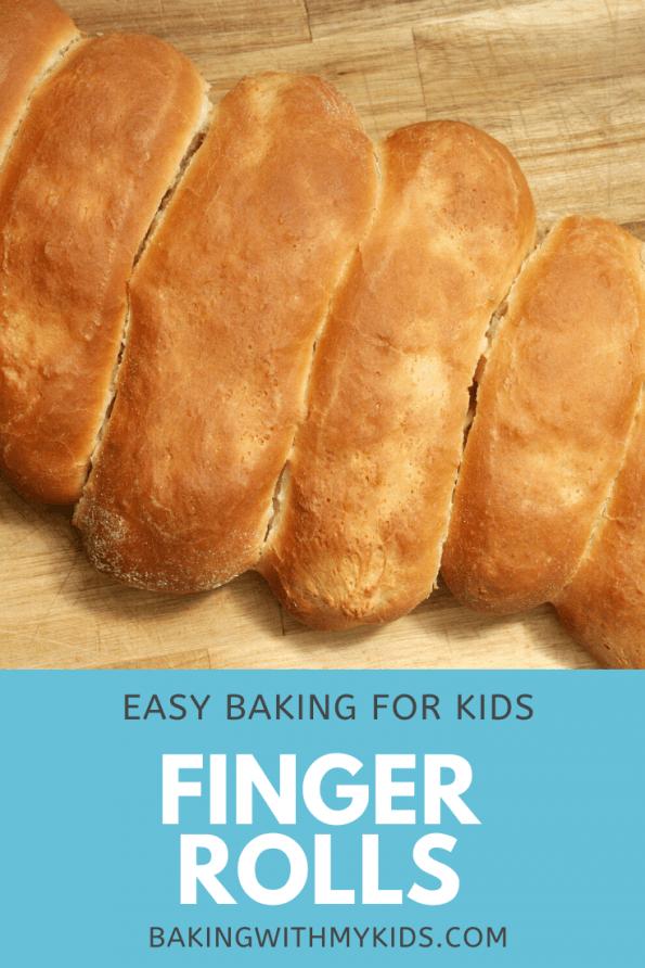 finger rolls on a bread board