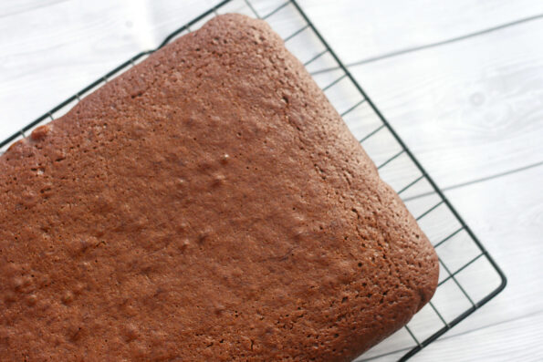 Mary Berry's ginger cake on a wire rack.