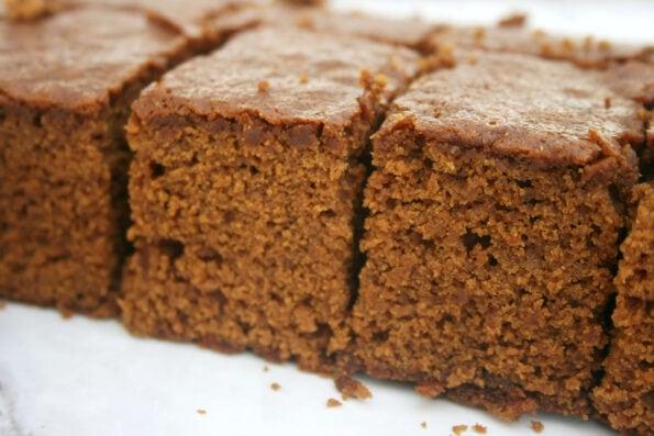 ginger cake slices.