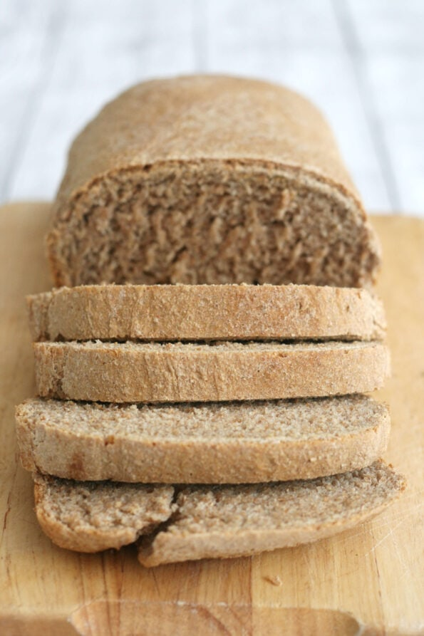 sliced brown bread.