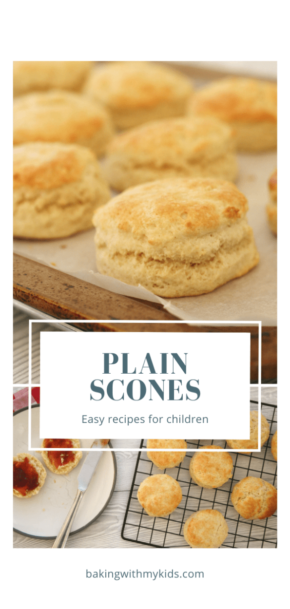 plain scones graphic with a text overlay
