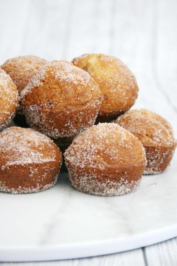 Doffins (doughnut muffins) in a pile