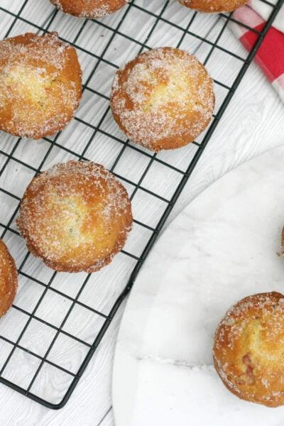 Doffins (doughnut muffins) on a serving plate