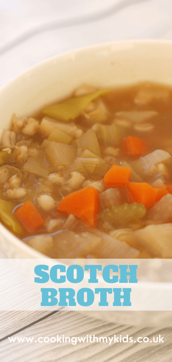 Scotch broth graphic with a text overlay