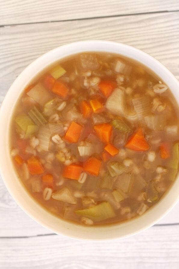 Scotch broth in a bowl