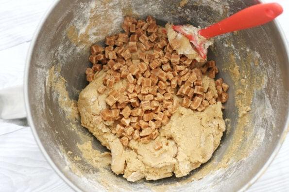 fudge cookie dough in a bowl