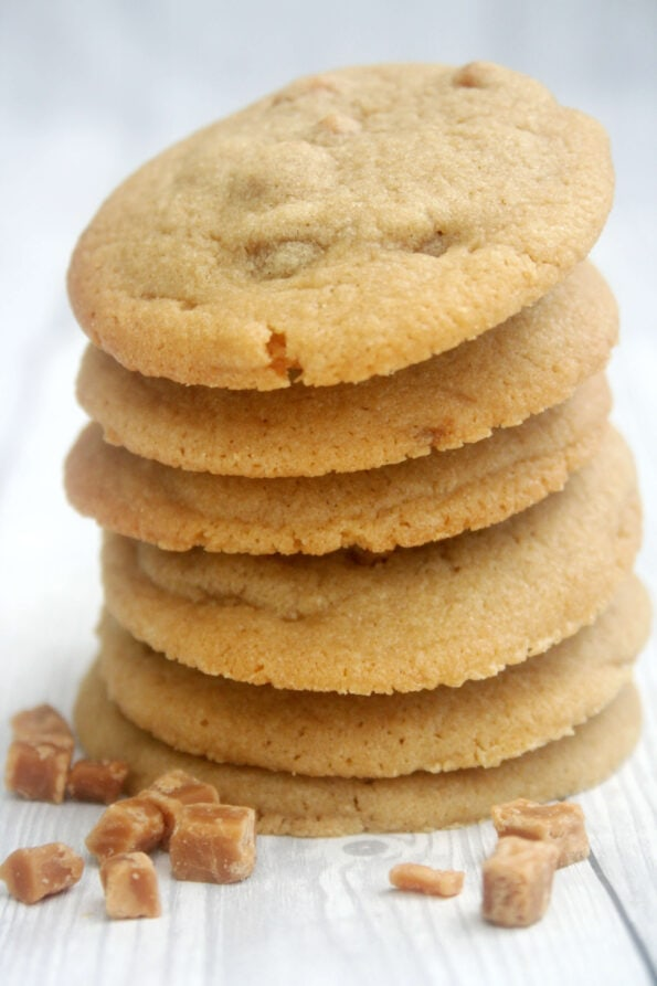 Fudge cookies in a pile