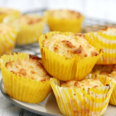 cheese muffins on a plate
