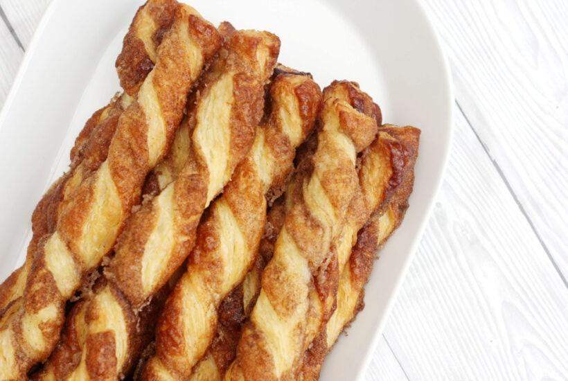 cinnamon twists on a plate.