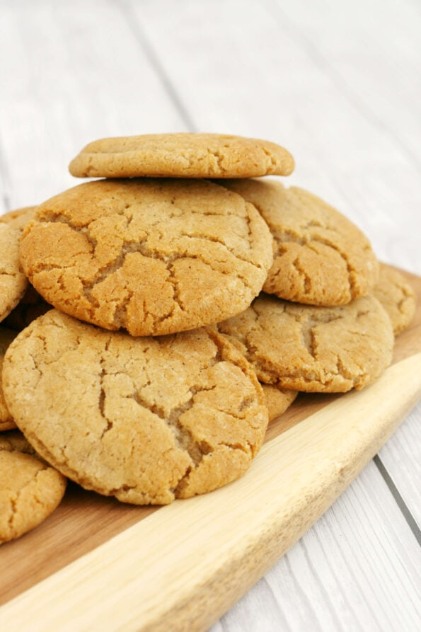 Cornish Fairings piled on a wooden serving board