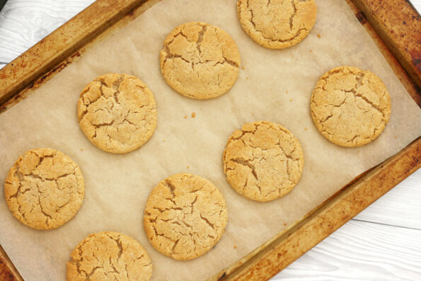 Cornish Fairings on a baking tray